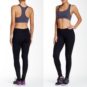 Zella Solid Black Full Length Banded Waist Legging